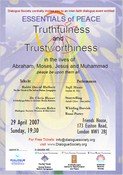 Community Conference - Essentials of Peace: Truthfulness & Trustworthiness of Prophets