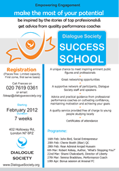 Dialogue Studies Success School Poster