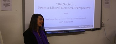 """""""Big Society... from a Liberal Democrat Perspective"""": Seminar with Kirsten Bayes, Former Deputy Leader, Reading Borough Council, 12.05.2011"""