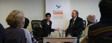 Shami Chakrabarti has a Straight Talk with Steve Richards at the Dialogue Society , 21.06.2012