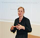 'Understanding the Bahá'í Faith' with Sarah Perceval, 23/06/2010